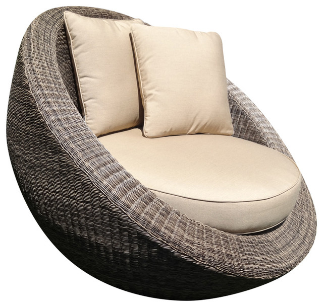 Woven Fiber Round Chair  Tropical  Outdoor Lounge Chairs