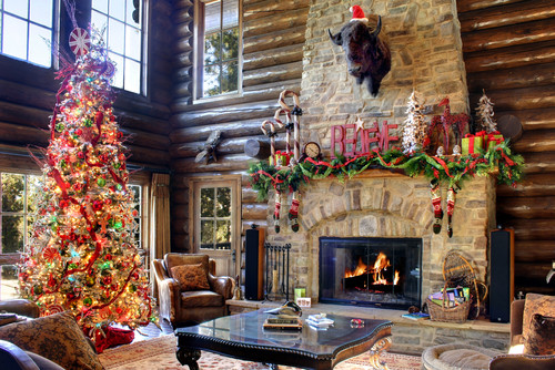Log Home For The Holidays