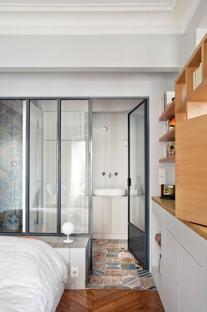 Appartement L, paris, 75 contemporaneo-stanza-da-bagno