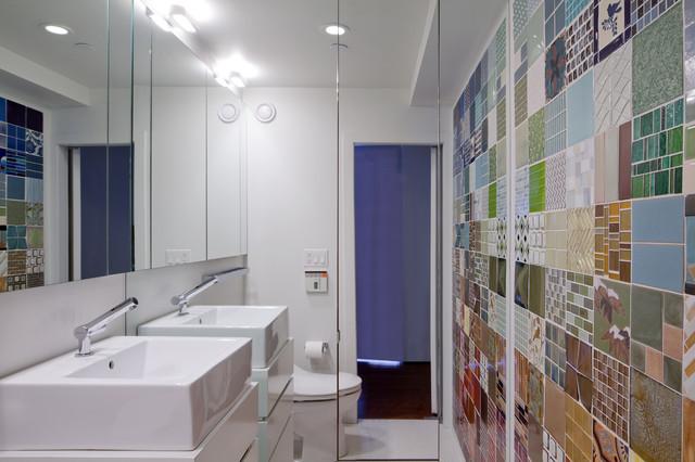 Greenwich Loft Studio moderno-stanza-da-bagno