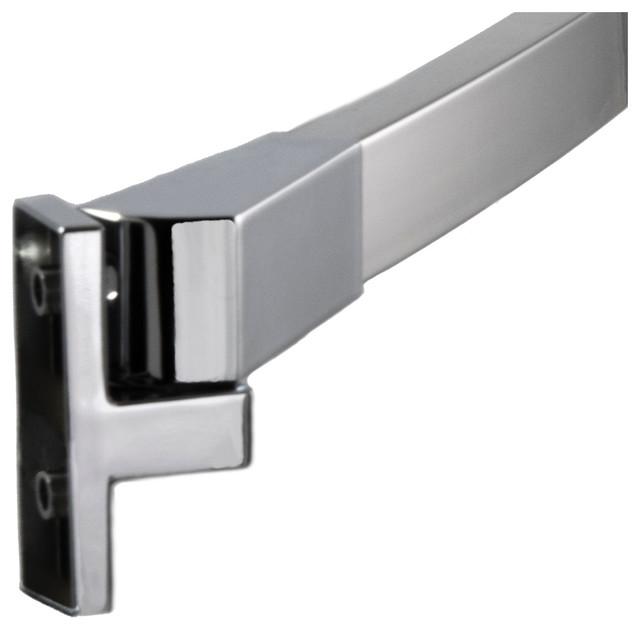 60 curved fixed shower curtain rod brushed nickel polished chrome finish