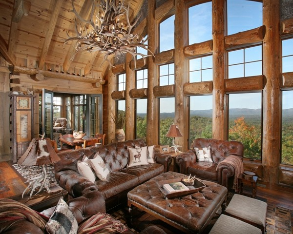 hunting chairs and stools revolving chair bd price wild turkey lodge - traditional living room atlanta by modern rustic homes