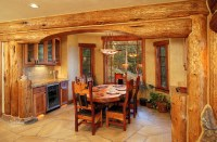 Hybrid Log House - Traditional - Dining Room - Vancouver ...