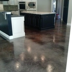 Popular Kitchen Flooring New Kitchens Concrete Staining - Traditional Jacksonville ...
