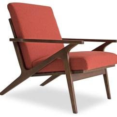 Red Lounge Chair Best Stadium Chairs For Bleachers Adalyn Mid Century Modern Orange Midcentury Indoor Chaise By Sleek Furniture