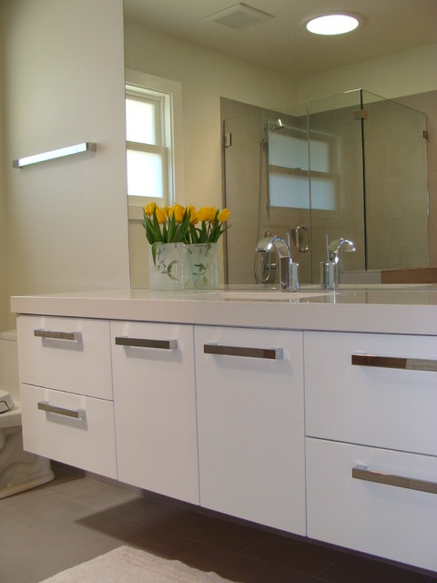 White Lacquer Vanity  Modern  Bathroom  San Francisco