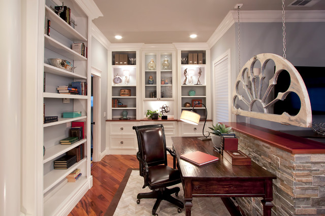 Walnut Creek master bedroom and library  Transitional