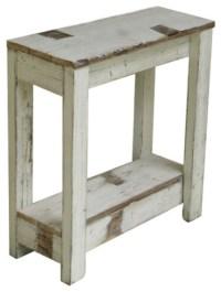 Farmhouse End Table, White - Farmhouse - Side Tables And ...