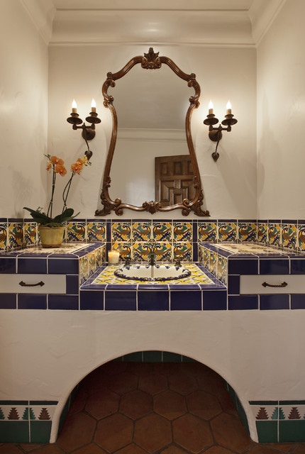 Spanish Colonial mediterranean-bathroom