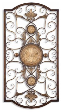 Ornate Large Metal Scroll Wall Grille, Open Plaque Art ...
