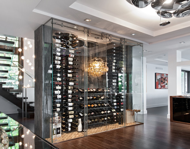 A Passion For Wine Contemporary Wine Cellar Ottawa By Design First Interiors