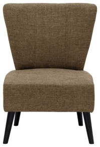 Furinno Euro Modern Armless Fabric Accent Chair ...