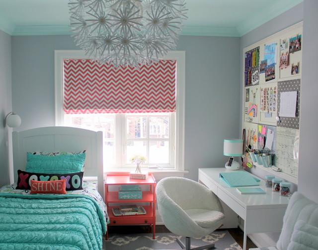 pretty tween bedroom transitional