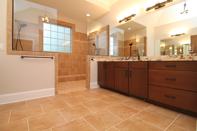 cost to build outdoor kitchen makeover his and hers master bath - traditional bathroom ...