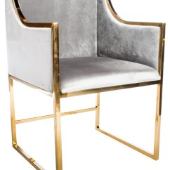 Gold Dining Chairs Revolving Chair For Baby Erin Set Of 2 Contemporary