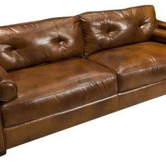 Abbott Vintage Cigar Tufted Leather Sofa 3 Seater Silver Coast Company - Brown & Reviews | Houzz