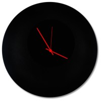 Blackout Circle Clock, Minimalist Modern Black Metal ...