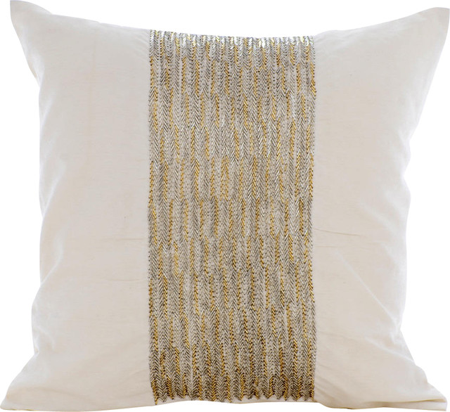 ivory white chevron pillows 20 x20 bed lounge pillow art silk decor pillow