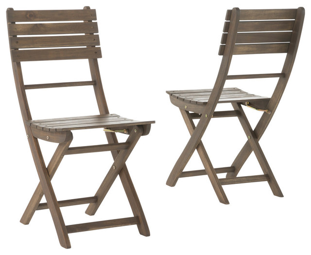 folding chairs outdoor use cost of reupholstering a chair vicaro gray finish acacia wood foldable dining set 2
