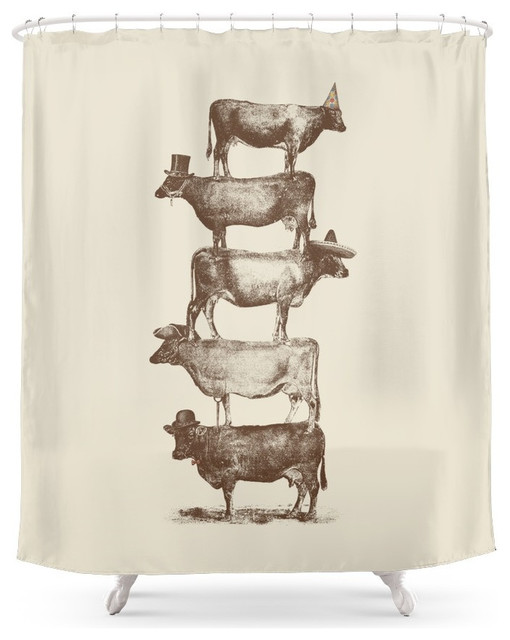 Cow Cow Nuts Shower Curtain Farmhouse Shower Curtains By Society6