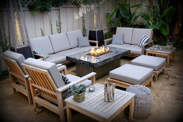 Balboa Fire Pit Tables  Eclectic  Patio  Orange County
