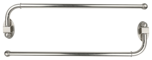 swing arm rods 3 4 24 38 brushed steel set of 2