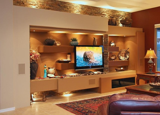DAGR Design Custom Media WallEntertainment Center