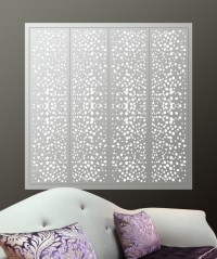 Decorative window grilles allows natural light to flood