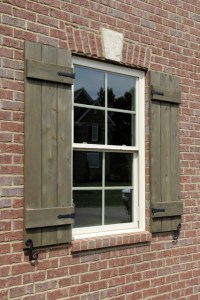 Custom Shutters with hardware - Traditional - Exterior ...