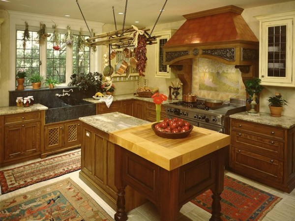 tudor style kitchen Mansion in May 1999 - Rustic - Kitchen - New York - by