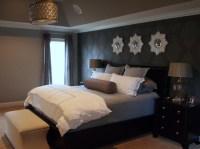 Glam Gray Sparkle Master Bedroom