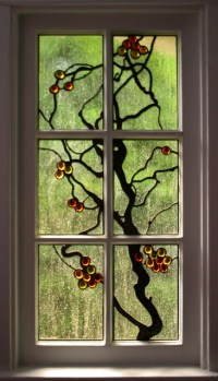 Grapevine Stained Glass Window - Asian - Bedroom - Chicago ...