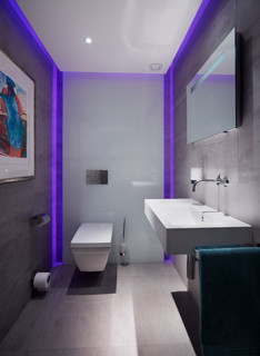 Led Lit Cloakroom Luxury Home Full Property Remodel