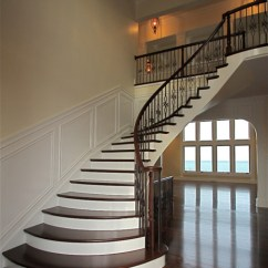 Side Lamps For Living Room Tall Tables Elegant Curved Stairs - Traditional Staircase ...