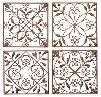 Uma Enterprises Artisan Scroll Wrought Iron Wall Decor ...