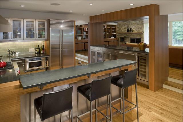 kitchen bar designs orange canisters 厨房 酒吧设计 basement remodeling ideas eisner design contemporary