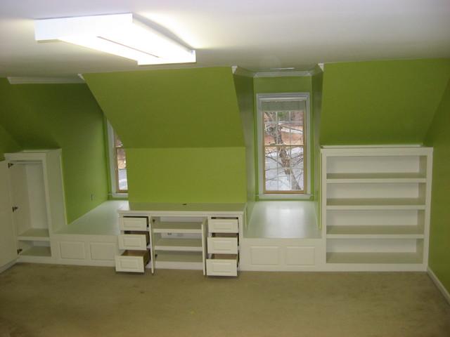 tv wall unit design for living room modern teal bedroom dormer built-ins - traditional atlanta ...