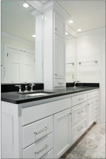 chair slipcovers green expensive gaming double sink vanity w/ center tower - contemporary bathroom milwaukee by a fillinger inc