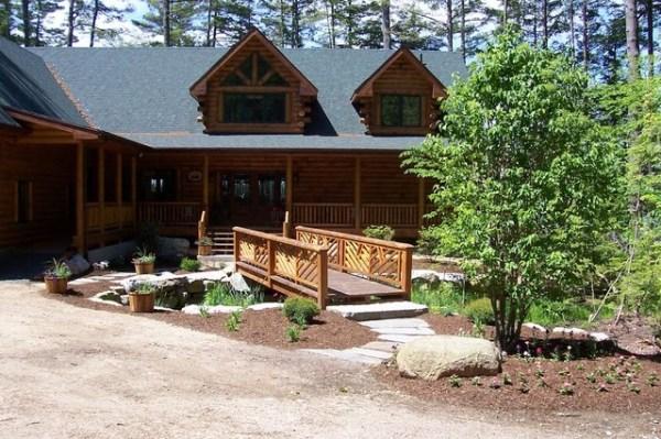 log home landscaping
