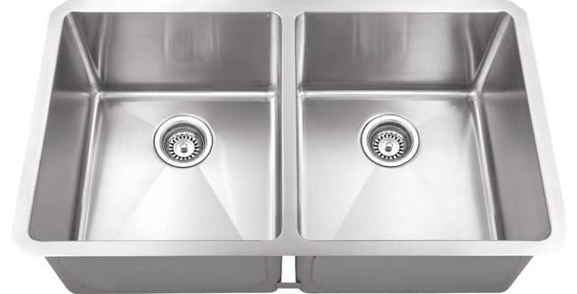 hahn kitchen sinks cabinets seattle chef series handmade equal double bowl contemporary by your sink warehouse lp