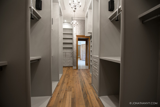 Silver and Grey Walk in Closet
