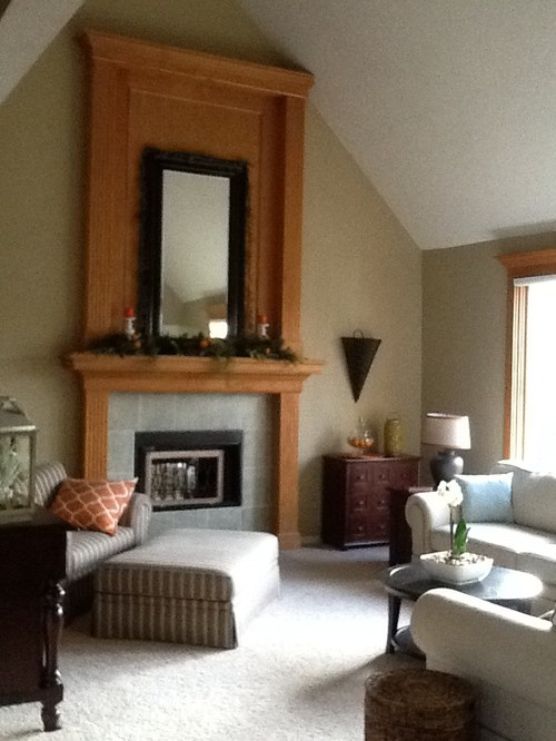 living room paint colors with oak trim fan light update golden fireplace and window