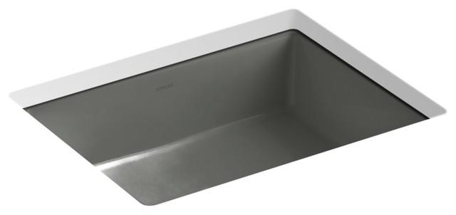 kohler k 2882 verticyl 19 13 16 rectangular undermount bathroom thunder grey