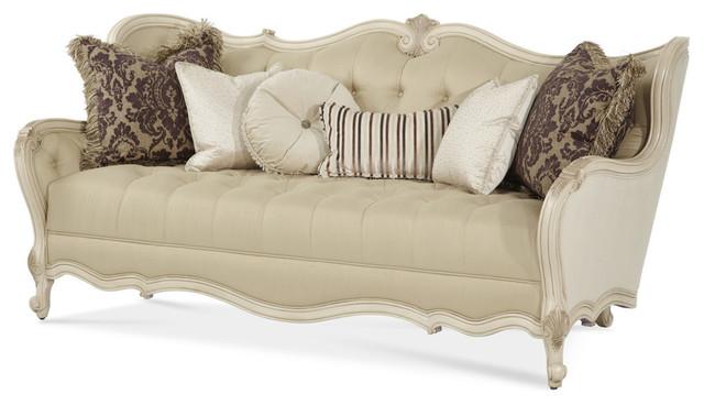 emma tufted sofa armchair tray aico lavelle wood trim blanc victorian sofas by