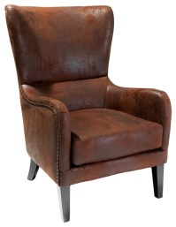 Clarkson Wingback Armchair - Rustic - Armchairs And Accent ...