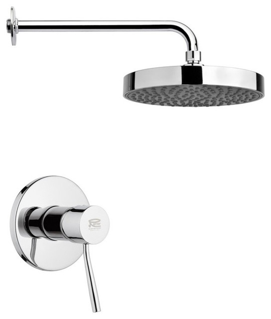 Round Shower Faucet Set Chrome  Contemporary  Tub And Shower Faucet Sets  by TheBathOutlet