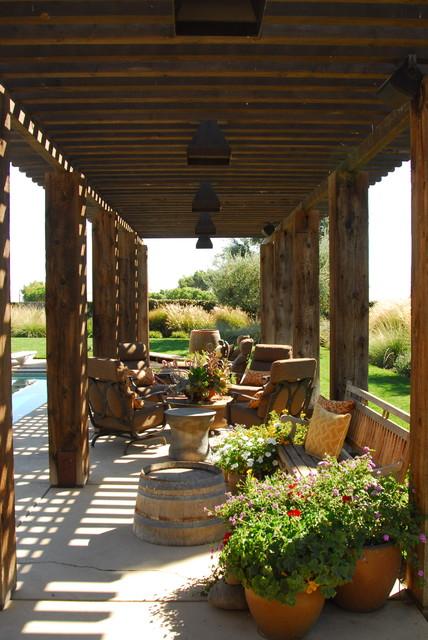 Napa Style Residence  Mediterranean  Patio  Sacramento  by Westfall Design Studio