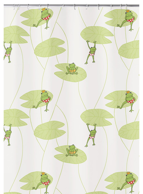 luxury kids fabric shower curtain frog