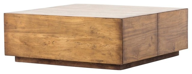duncan reclaimed wood square storage coffee table 42