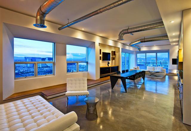 Vegas Loft  Industrial  Living Room  Las Vegas  by